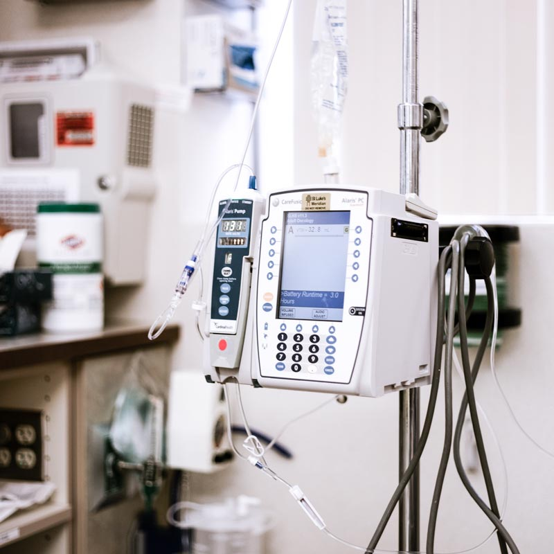 Photo of chemotherapy equipment.