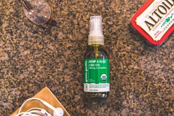 Photo of a bottle of Green Gorilla CBD oil spray
