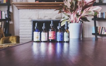 Photo of five of the best CBD oil drops